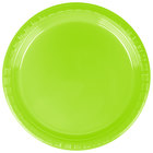 Creative Converting 28312311 7 inch Fresh Lime Green Plastic Plate - 240/Case