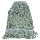 Continental A11313 32 oz. Green Loop End Natural Cotton Mop Head with 1 1/4 inch Band
