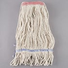 Continental Wilen A11111 16 oz. Loop End Natural Cotton Mop Head with 1 1/4 inch Band