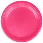 Creative Converting 28177021 9 inch Hot Magenta Pink Plastic Plate   - 240/Case