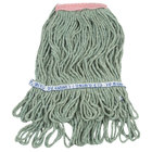 Continental Wilen A11311 16 oz. Green Loop End Natural Cotton Mop Head with 1 1/4 inch Band