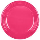 Creative Converting 28177031 10 inch Hot Magenta Pink Plastic Plate   - 240/Case