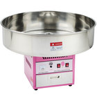 """Carnival King CCM28 Cotton Candy Machine with 28"""" Stainless Steel Bowl - 110V"""