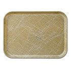Cambro 3242214 12 1/2 inch x 16 1/2 inch (31,9 x 41,9 cm) Rectangular Metric Abstract Tan Fiberglass Camtray - 12 / Case