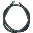 All Points 38-1366 Black Ignition Wire; 24 inch; 1/4 inch Female Push-Ons