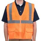 Orange Class 2 High Visibility Surveyor's Safety Vest - Large