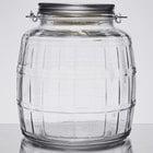 Anchor Hocking 85728AHG17 1 Gallon Barrel Jar with Brushed Aluminum Lid