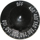 All Points 22-1578 Black Braising Pan Thermostat Knob (Off, 100-450)