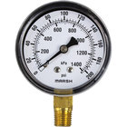 All Points 62-1020 Pressure Gauge; 0 - 200 PSI; 1/4 inch MPT Bottom Mount