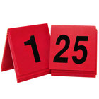Cal-Mil 226 Red/Black Double-Sided Number Tents 1-25 - 3