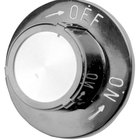 All Points 22-1172 2 1/2 inch Broiler / Grill / Hotplate Gas Valve Knob (Off, On)
