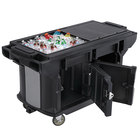 Cambro VBRUT6110 Black 6' Versa Ultra Work Table with Storage and Standard Casters
