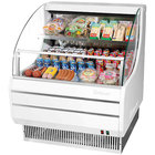 Turbo Air TOM-30L White 28 inch Low Profile Horizontal Air Curtain Display Case - 6.1 Cu. Ft.