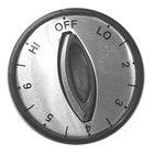 All Points 22-1012 2 inch Hot Dog Steamer / Warmer / Grill Knob (Off, Lo, 2-6, Hi)