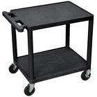 Luxor LP26E-B 2 Shelf A/V Table 18 inch x 24 inch x 26 inch