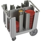 Cambro ADCS480 Speckled Gray S Series Adjustable Dish Caddy with Vinyl Cover - 6 Column