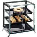 Cal-Mil 1575-S-13 Soho Three Tier Black Display Case with Front Doors - 21 1/4