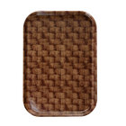 Cambro 1015301 10 1/8 inch x 15 inch Dark Basketweave Insert for 1520 Fiberglass Camtray - 24/Case