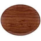 Cambro 2500304 19 1/4 inch x 24 inch Oval Country Oak Customizable Fiberglass Camtray - 6/Case