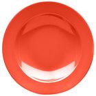Elite Global Solutions D10PB Rio Spring Coral 18 oz. Round Melamine Pasta / Soup Bowl - 6/Case