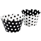Hoffmaster 611131 Black / White Reversible Cupcake Wrappers - 250/Case