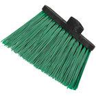 Carlisle 3686709 Duo-Sweep Medium Duty Angled Broom Head with Flagged Green Bristles - 12/Case