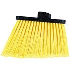 Carlisle 3686704 Duo-Sweep Medium Duty Angled Broom Head with Flagged Yellow Bristles