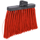 Carlisle 3686805 Duo-Sweep 12 inch Heavy Duty Angled Broom Head with Red Unflagged Bristles