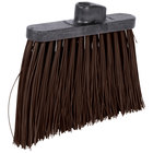 Carlisle 3686801 Duo-Sweep 12 inch Heavy Duty Angled Broom Head with Brown Unflagged Bristles