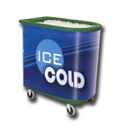 Green Server Elite Deepcore 5073 Portable Insulated Ice Bin / Beverage Cooler / Merchandiser with Cash Drawer and Tray 100 Qt.