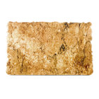 Elite Global Solutions QS2415 Fo Granite 23 3/4 inch x 15 inch Rust Granite Rectangular Riser with One Straight Edge