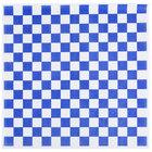 Choice 15 inch x 15 inch Blue Check Deli Sandwich Wrap Paper - 1000/Pack