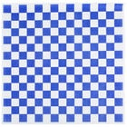 Choice 15 inch x 15 inch Blue Check Deli Sandwich Wrap Paper - 1000/Pack