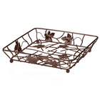 Elite Global Solutions WB12122 12 inch Antique Copper Square Metal Leaf Wire Basket