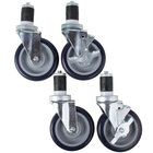Advance Tabco TA-25EG-X Equivalent 5 inch Swivel Casters for Equipment Stands - 4/Set