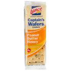 Lance Captain's Wafers Peanut Butter & Honey Sandwich Crackers 20 Count Box   - 6/Case