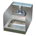 Advance Tabco 7-PS-23-EC-SP 12 inch x 16 inch Hand Sink with Splash Mounted Extended Faucet and Side Splash Guards