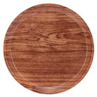 Cambro 1000309 10 inch Round Java Teak Customizable Fiberglass Camtray - 12/Case