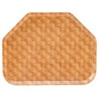 Cambro 1418TR302 14 inch x 18 inch Trapezoid Light Basketweave Fiberglass Camtray - 12/Case