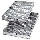 Chicago Metallic 48514 Glazed Aluminized Steel Crimped Round 4 Loaf Bread Pan Set
