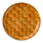 Cambro 1300302 13 inch Round Light Basketweave Fiberglass Camtray - 12/Case