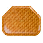 Cambro 1520TR302 14 9/16 inch x 19 1/2 inch Trapezoid Light Basketweave Fiberglass Camtray - 12/Case