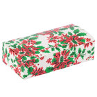 4 1/2 inch x 2 5/16 inch x 1 1/8 inch 1-Piece 1/4 lb. Poinsettia / Holiday Candy Box   - 250/Case