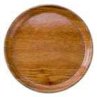 Cambro 1550307 16 inch Low Profile Round Light Elm Fiberglass Camtray - 12 / Case