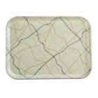 Cambro 46270 4 1/4 inch x 6 inch Rectangular Swirl Black and Gold Fiberglass Camtray - 12/Case