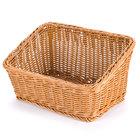 GET WB-1510-H Designer Polyweave Plastic Cascading Basket - Honey 9 1/4