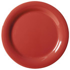 GET NP-7-CR Cranberry Diamond Harvest 7 1/4 inch Rolled Edge Plate - 48/Case