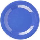 Carlisle 3301214 Sierrus 9 inch Ocean Blue Wide Rim Melamine Plate - 24/Case