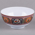 Thunder Group 3004TP Peacock 12 oz. Round Melamine Rice Bowl - 12/Case