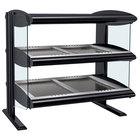 Hatco HZMH-36D Black 36 inch Horizontal Double Shelf Heated Zone Merchandiser - 120/208V